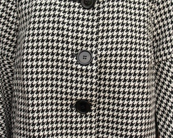 The Hailey Houndstooth Pea Coat