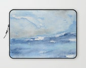 Scenic Macbook Pro Laptop Case - Artistic Printed Fabric Laptop Sleeve - Ocean Painting