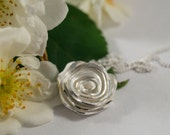 Silver Rose Pendant: A Sterling Silver Rose Pendant