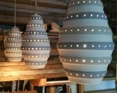 Mid Century Modern Pendant Hanging Lamp Trio