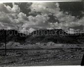 Vintage Photo, Israel's Negev Desert, Black & White Photo, Landscape Photo, Clouds, Sky, Snapshot, Old Photo, Minox Photo  AUGUSTINE0020