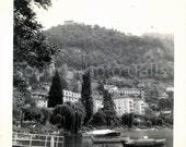 Vintage Photo, Swiss Mountain Lake Town, Found Photo, Black & White Photo, Snapshot, Travel Photo, Vacation Photo, Landscape   AUGUSTINE0323