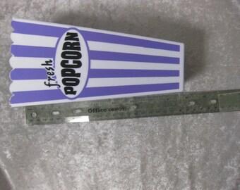 Movie Popcorn Container in Purple, Oval Label