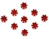Bindi Self Adhesive Indian Dots Traditional Crystal Red Maroon