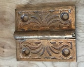 Beautiful Small Antique Bronze Butte Hinge - DIY Assemblage Steampunk Assemblage Pendant