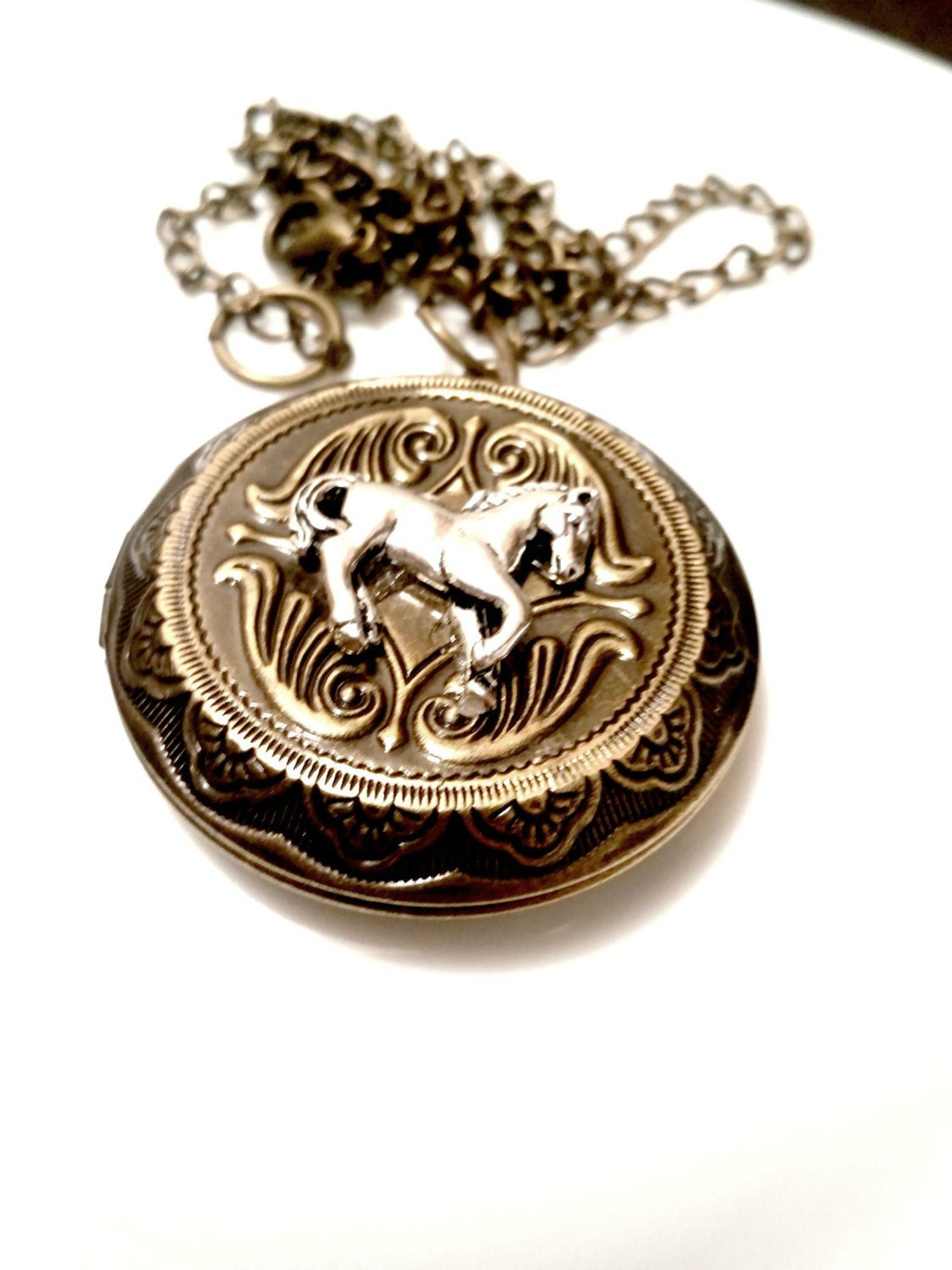 Horse Locket Horse Necklace Equestrian Jewelry Equine Country