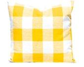 Yellow Pillow Covers, Buffalo Check PIllow Covers, Plaid Pillow Covers, Decorative Pillow Covers, Throw Pillow Covers, Yellow Cushion