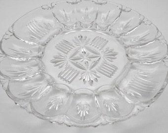 Vintage   Glass Egg Plate