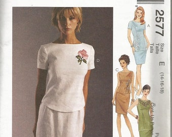 McCall's 2577 Misses Top, Tunic and Skirt Pattern SZ 14-18