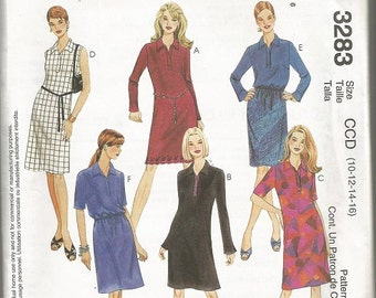 McCall's 3283  Misses Dress, Top , and Bias Skirt Pattern SZ 12-16