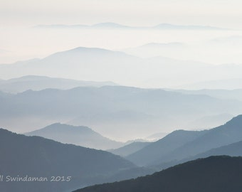 Photograph -  Blue Ridges - View from Janes Bald