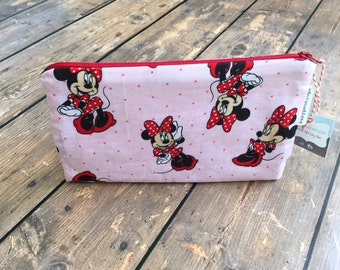 Pencil Case/Cosmetic Bag/ Gadget Case -  Minnie- Ready to ship