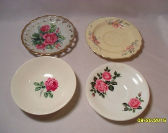 Lot of Vintage Mixed Plates and Small Dish