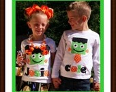 Personalized Halloween Shirt for Toddler Girls and Boy - 3M 6M 12M 18M 24M 2T 3T 4T 5T 6 7 8 10 12 - You Choose Shirt Color