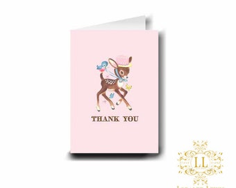 Little Deer Thank You Notes by Loralee Lewis