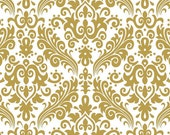 Fabric, gold damask fabric, In stock  gold damask fabric, sold by the yard- Ships Today