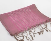 free shipping silk scarf, handwoven unisex scarf, pink scarf, chic elegant shawl, soft multifunctional female and male accessory