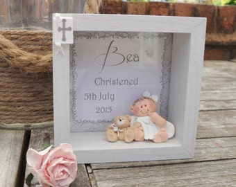 Personalised Christening Box Plaque, Baptism Gift