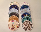 Nursing Pads 12 Sets (24 total) Made With 4 Layers Of 100% Cotton Flannel