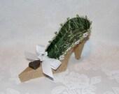 Paper Shoe Keepsake, The Hobbit Door High Heel 3D Paper Shoe Art Sculpture Original Design -- A Precious