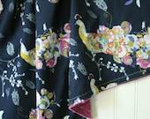 Minky Baby Blanket - Peacock Waltz - Personalization Available - Toddler Blanket - Peacock Baby Blanket