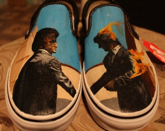 Hand Painted Pink Floyd Shoes