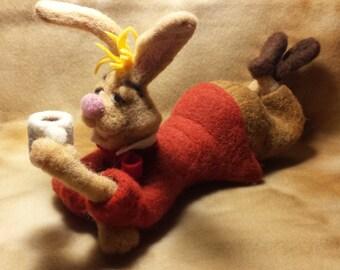 March Hare, Alice In Wonderland Character, Looney Bunny having tea