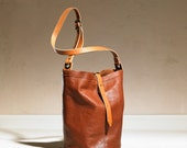 Bucket Bag - Brown Leather