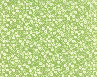 ONE HALF YARD Dainty in Green Hello Darling by Bonnie and Camille for Moda