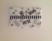 Blah, Blah, Blah Fabric Tissue Holder