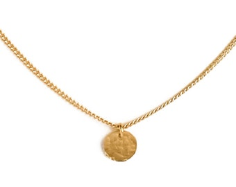 "ELEMENTS II - Gold plated necklace ""Full Moon"" (ELC02)"