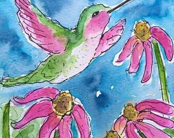 PRINT Humminbird LOVE