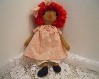 Raggedy Dolls PRIMITIVE, Peach, Pink