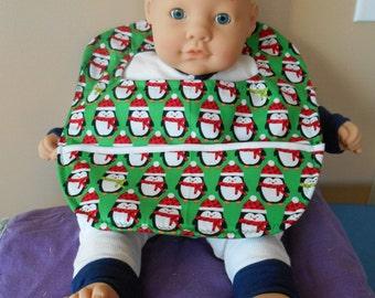 Santa Penguin Baby Bib