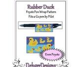 Bead Pattern Peyote(Pen Wrap/Cover)-Rubber Duck