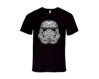 Dark Side Sugar Skull Fitted T-Shirt