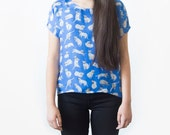 Cats Silk Blouse