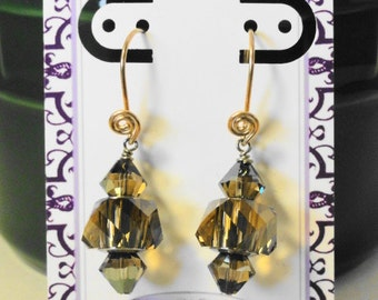 Large Hole Crystal Earrings