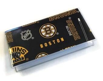 Checkbook Cover Boston Bruins