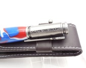 Bolt action handmade pen, Salute the Troops pen, Red, White and Blue