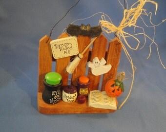Handmade Halloween Display