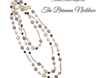 The Brianna Crystal Pearl Necklace - Infinite wrap necklace