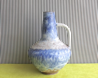 Fat Lava West German Pottery Handled Vase by Atelier Carstens Tönnieshof Designed by Gerda Heuckeroth