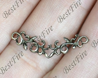 6pcs of Antique Bronze charming Filigree pendant,metal finding 6x25mm,Filigree connect findings beads,beads findings
