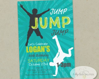 JUMP PARTY INVITATION | Bounce Party, Indoor Trampolines, Bounce House, Bounce Party | Instant Download pdf