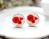 20% off - NEW Unique 3D Embossed Flowers 16mm Round Handmade Wood Cut Cabochon to make Rings, Earrings, Necklaces, Bracelets-(WG-290)