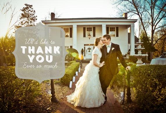 Quatrefoil Wedding Thank You Card Design