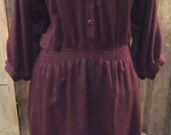 SALE- 80's plum dress