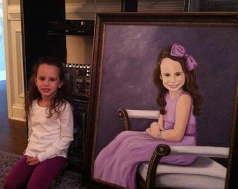 Custom Portrait  in Oils on Canvas