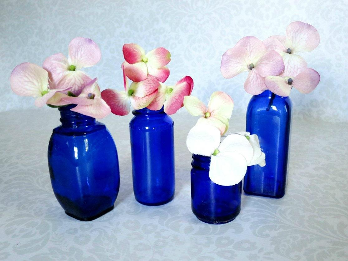 Vintage Cobalt Blue Bottles Cobalt Glass Vase Home Decor